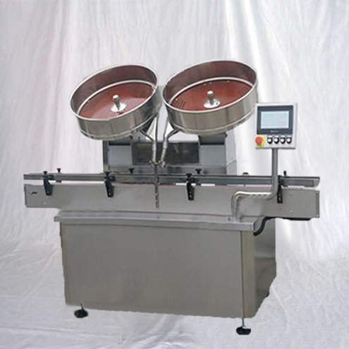 Automatic two plates tablets counting filling capping induction sealing machine capsule counter bottling equipment