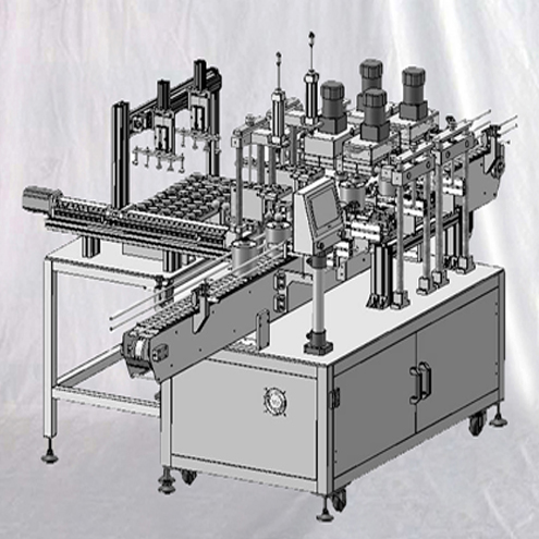Dauber cans screw capping lids closing machine linear type 40ppm equipment with pickup feeding system