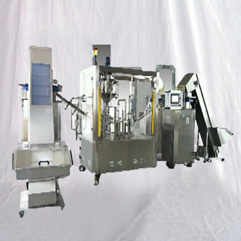 Vet Syringes gel filling push rod inserting pushing assembly equipment fully automated pharmaceutical machinery
