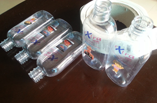 flat labeling machine bottles samples from customer.jpg