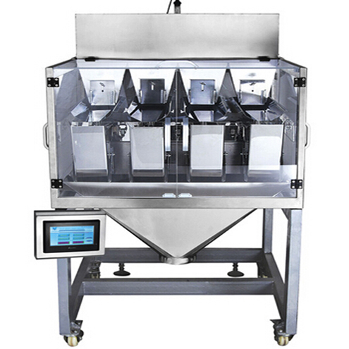linear 4 heads weigher equipment weighing scale balance multiheads auxiliary equipment measuring powders granules for packaging machinery