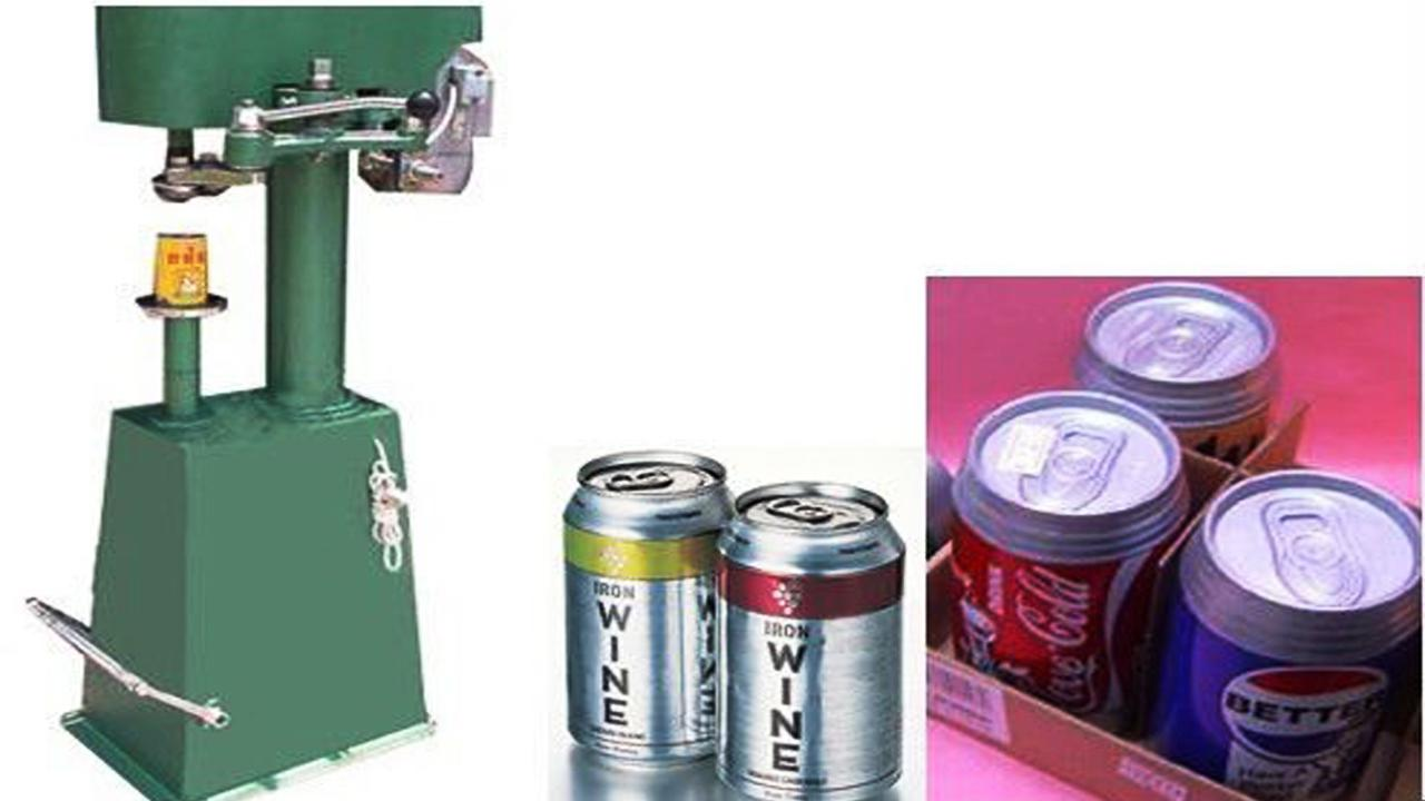 Easy open can semi automatic electric sealing machine for Easy open Can Model YX-TG41AA