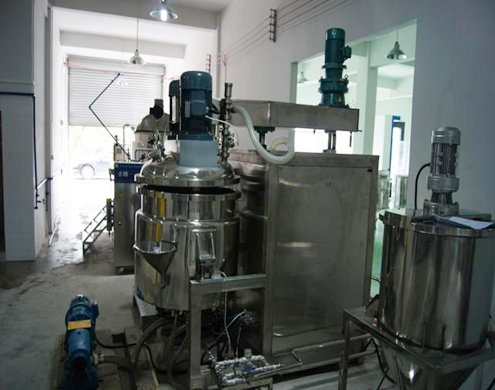 toothpaste production line machines from A to Z water treatment vacuum mixer tube filling sealing laboratory disperse