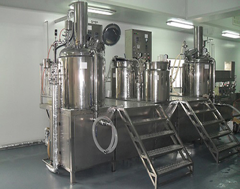 Cream vacuum emulsifier machines for cosmetic food pharmaceutical making homogenizing mixing equipment