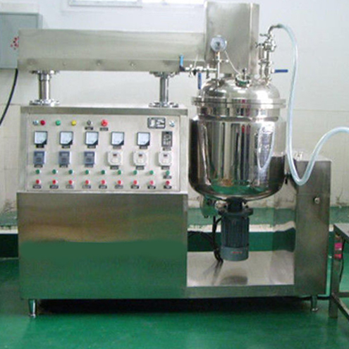 50L vacuum cream manufacturing making machine vacuum mixing equipment tilted pot cream lotion mixer