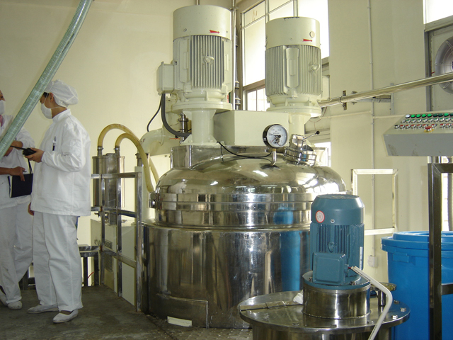 toothpaste making machine in customer factory.JPG