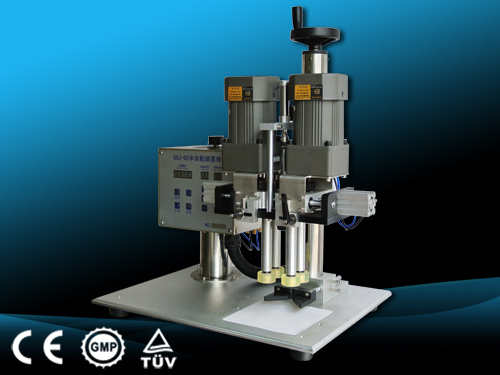 semi automatic tabletop screw capping machine benchtop capper for pump caps Verschließmaschinen