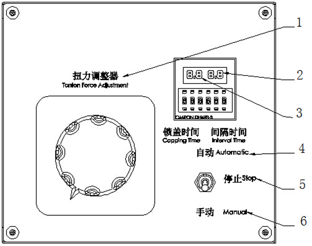 operation panel function for screw capping machinery.jpg
