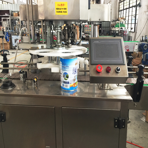 metal cans canning machine automatic rotary jars pop can capping sealing equipment with touch screen controlling system