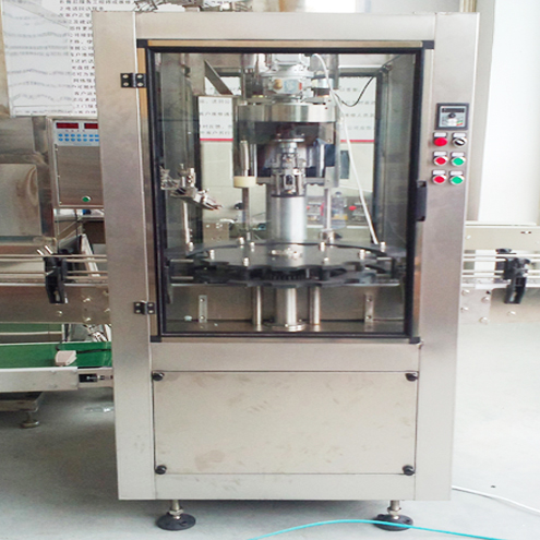 ROPP wine glass bottles capping machine aluminum caps screw capper equipment with protective chamber inline cap chuck system