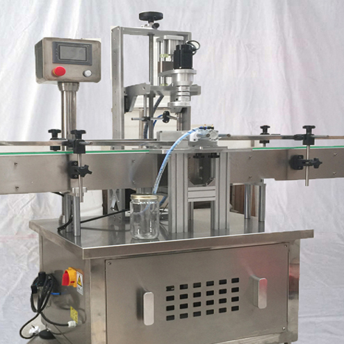 Automatic jar screw capping machine with speed adjustment controller single head glass bottles capper tightner equipment
