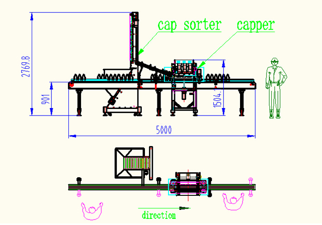 inline capper machine