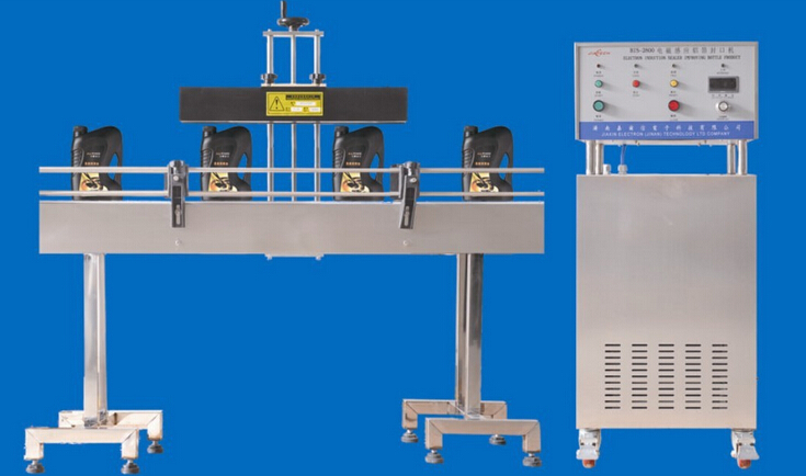 induction sealing machine linear automatic equipped with cap