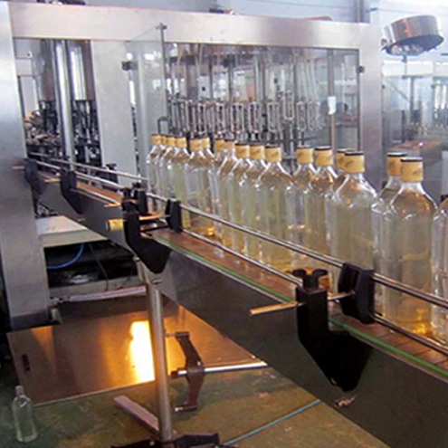 red wine filling line fully automatic glass bottles linear filler plugging screw caps capping shrink capsulating labeling date printing line