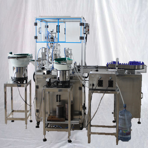 peristaltic pump liquid dosing filling capping labeling line with rotary table for extracts aromatherapy flavor essential oils