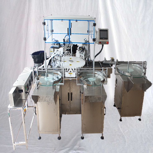 Essential oil filling bottling line rotary liquid high speed 50-60bpm small bottles 4heads filler capper equipment