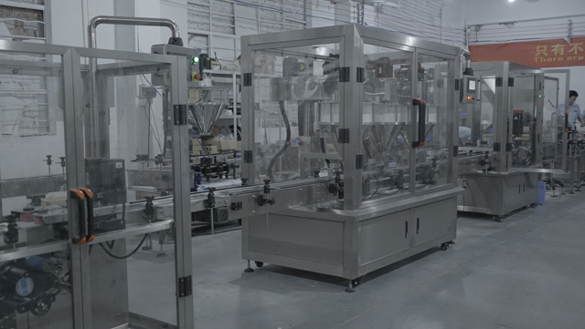 loose powder filling line factory acceptance.JPG