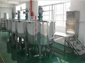 stainless steel blending tanks shampoo making equipment liquid mixer machine