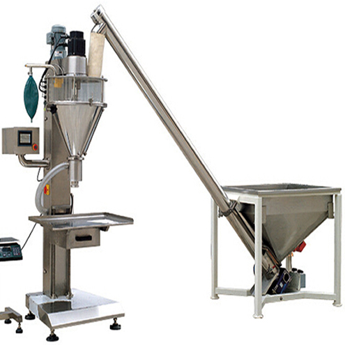 Baby talcum powder filling machine screw auger filler with elevator loading feeding system non-flow materials mixer filler equipment