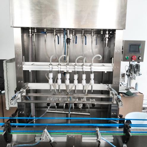 Linear Liquid Foamy Glass Bottles Overflow Filling Machine