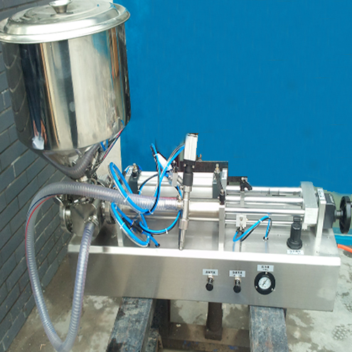 food sauce high viscosity liquid filling machine with handheld nozzles portable filling heads semi automatic pneumatic filler equipment