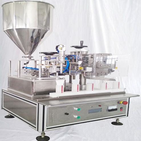 Semi automatic tube filler equipment linear filling ultrasonic sealing equipment for cream lotion liquid packaging