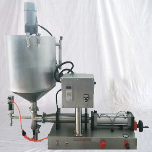 heated mixer filler semi automatic honey pepper sauce thermostatic heating mixing filling equipment