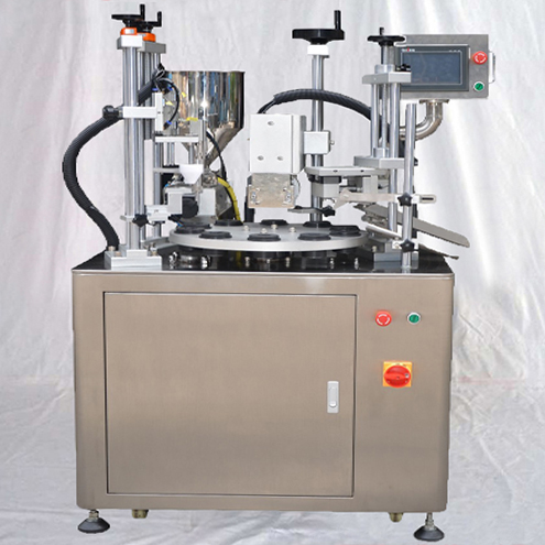 semi automatic tube filler equipment with ultrasonic tails sealing function rotary filler ultrasound sealer system