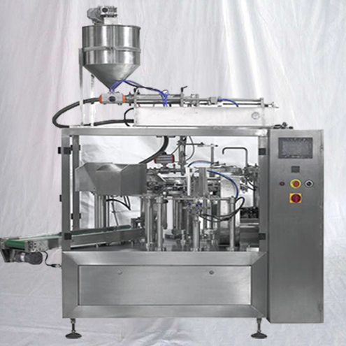 Juice pouch filling &sealing rotary machine automatic stand up pre-made bags liquid filler sealer equipment