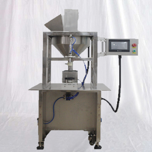 Single head fermented tea leaves filling machine with screw auger feeding metering way stand up type custom food granules olive filler semi automatic equipment