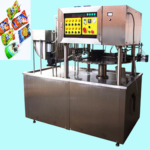 juice milk yogurt liquid filling capping sealing machine pouch bags packaging machinery with manual bag loading system