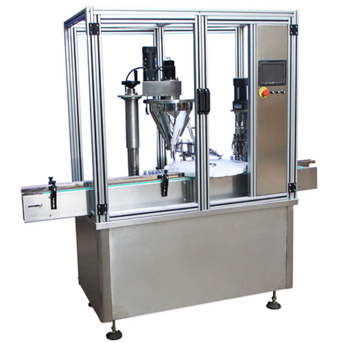 powder filling capping machine rotary model automatic milk pharma powder filler capper equipment