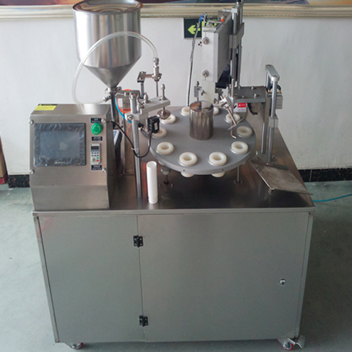pharmaceutical cosmetic tubes filling Ultrasound sealing machine semi automatic hose filler sealer with touch screen controlling system