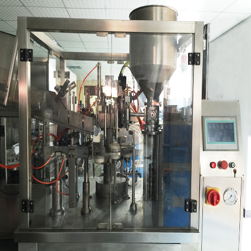cleaning cream lotion tubes filling sealing machine fully automatic with tubes loading feeding system water chiller accessory hose filler sealer equipment