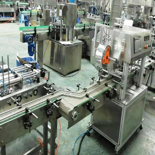 cream jars rotary filling sealing screw capping line customizable automatic filler equipments for cosmetic industry