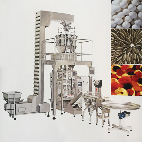 Bags form fill seal equipment with multihead scale computer weigher hardware large granules nails screws food bagging packaging equipment