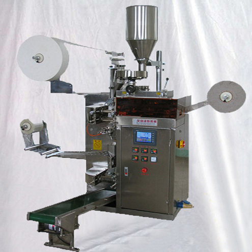 Dip tea filling sealing bagging machine bags with envelope tags threads packaging machine form fill seal packaging equipment
