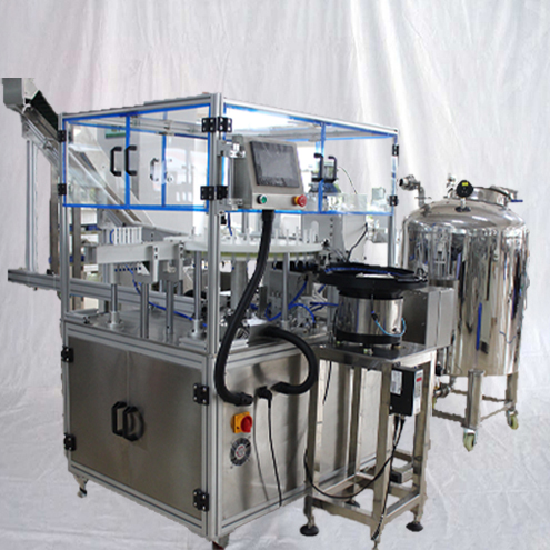 Medical gel syringe filling plugging sealing machine fully automatic 6heads liquid PFS filler capper pharmaceutical packaging equipment