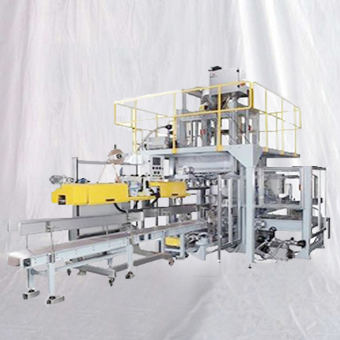 Powder filling sewing bagging line fully automatic 25KG-50KG Open mouth bags filler sealer equipment