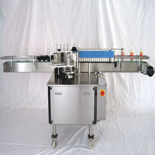 Round glass plastic bottles wet glue labeling machine linear cold paste labels applicator for perfume flavoring wine bottle