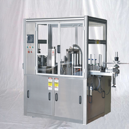 Hot melt adhesive glue labeling machine linear type for round plastic glass bottles Hotmelt sticker applicator system