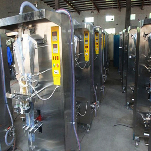 Water pouch liquid vertical filling packing machinery VFFS form fill seal machinery for liquid bags