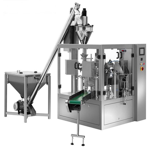 Fully automatic premade bag powder filling sealing machine bags given packaging machinery with auger metering system