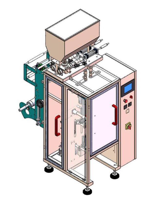 Drawing of model YX-IP100-02 LANES Packing machine.jpg