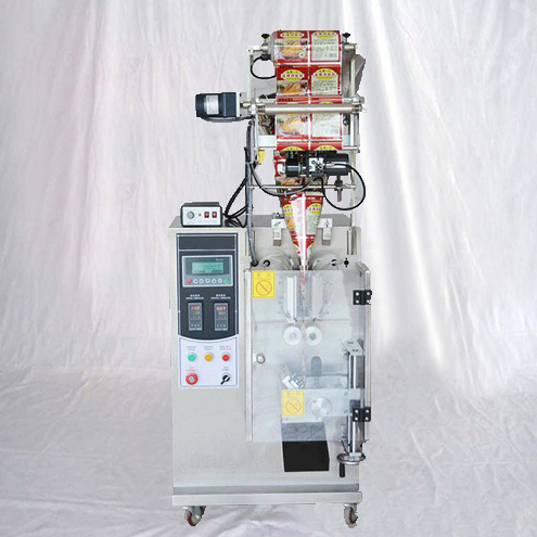 loose powder cosmetics packaging machinery with rotary cutter system small bags form fill seal bagging equipment