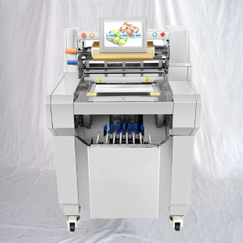 Cling film trays sealing wrapping machine food vegetables fruits wrapper plastic wrap equipment automatic