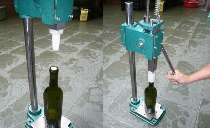 Electric Wine Bottles Glass Containers Corks Inserting