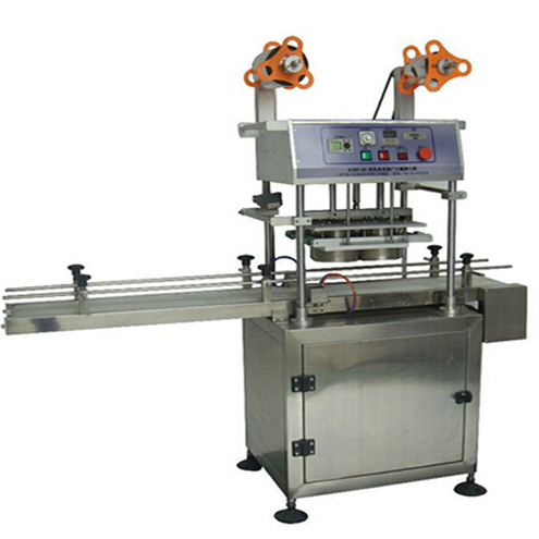 PET bottles jars aluminum heat air sealing machine automatic single double heads sealer machinery for drinking packaging