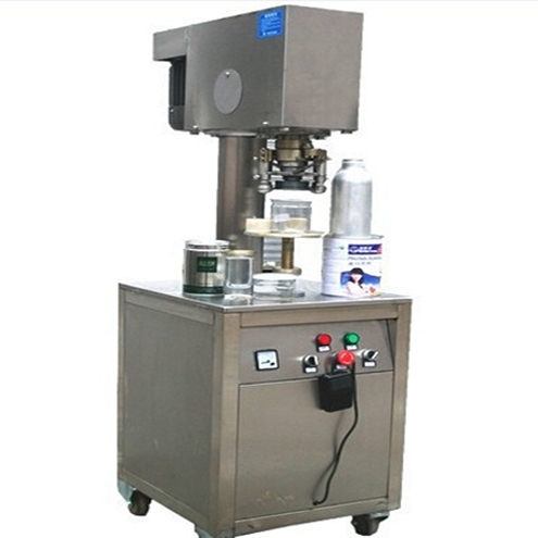 Cans sealing machine semi automatic with stationary can non-rotary PET Paper metal cans sealer equipment