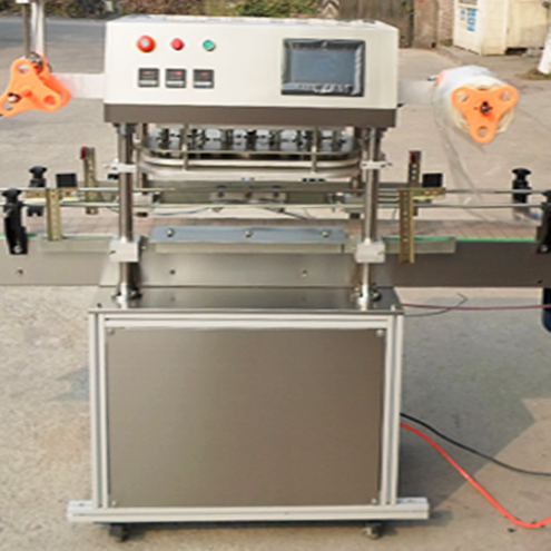 widemouth container three heads automatic sealing machine snack food jars film sealer equipment